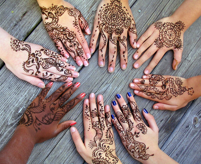 Henna Tattoo Tips : Henna tatoeage haarkleuring tips peach of my mind