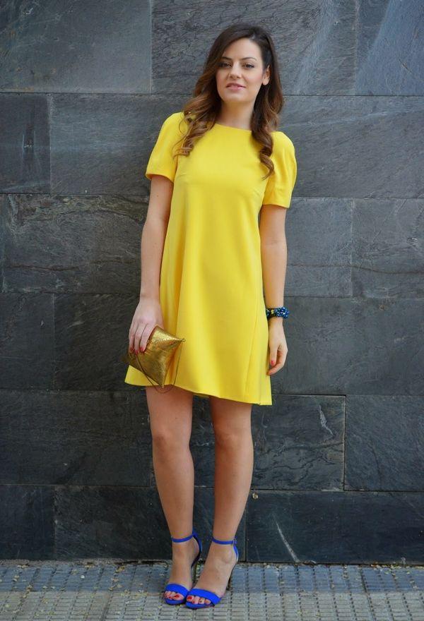 Vestidos de moda color amarillo