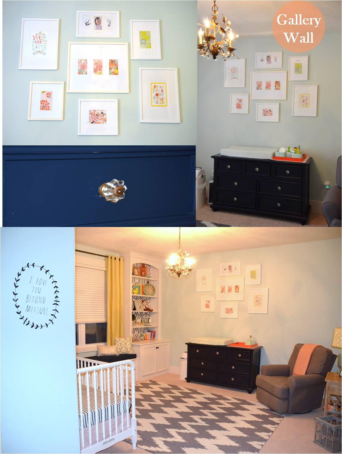 Jessica Stout Design}: BEFORE & AFTER {Nursery}