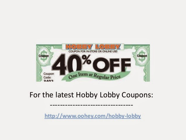 Join our email list to receive our Weekly Ad, special promotions, coupons, fun project ideas and store news. SHOP WEEKLY AD Thousands of products on sale! SHOP AD Get 40% off One item at regular price. Print coupon. ® Hobby Lobby;.