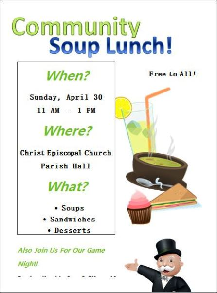 4-30 Community Soup Lunch