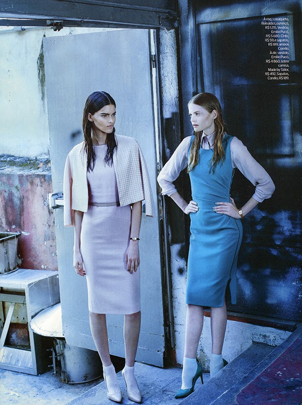 Magazine Photoshoot : Kamila Hansen & Nathalia Oliveira Photoshot For Elle Magazine Brazil Janeiro 2014 Issue