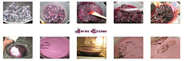 Eggless Blueberry Icecream
