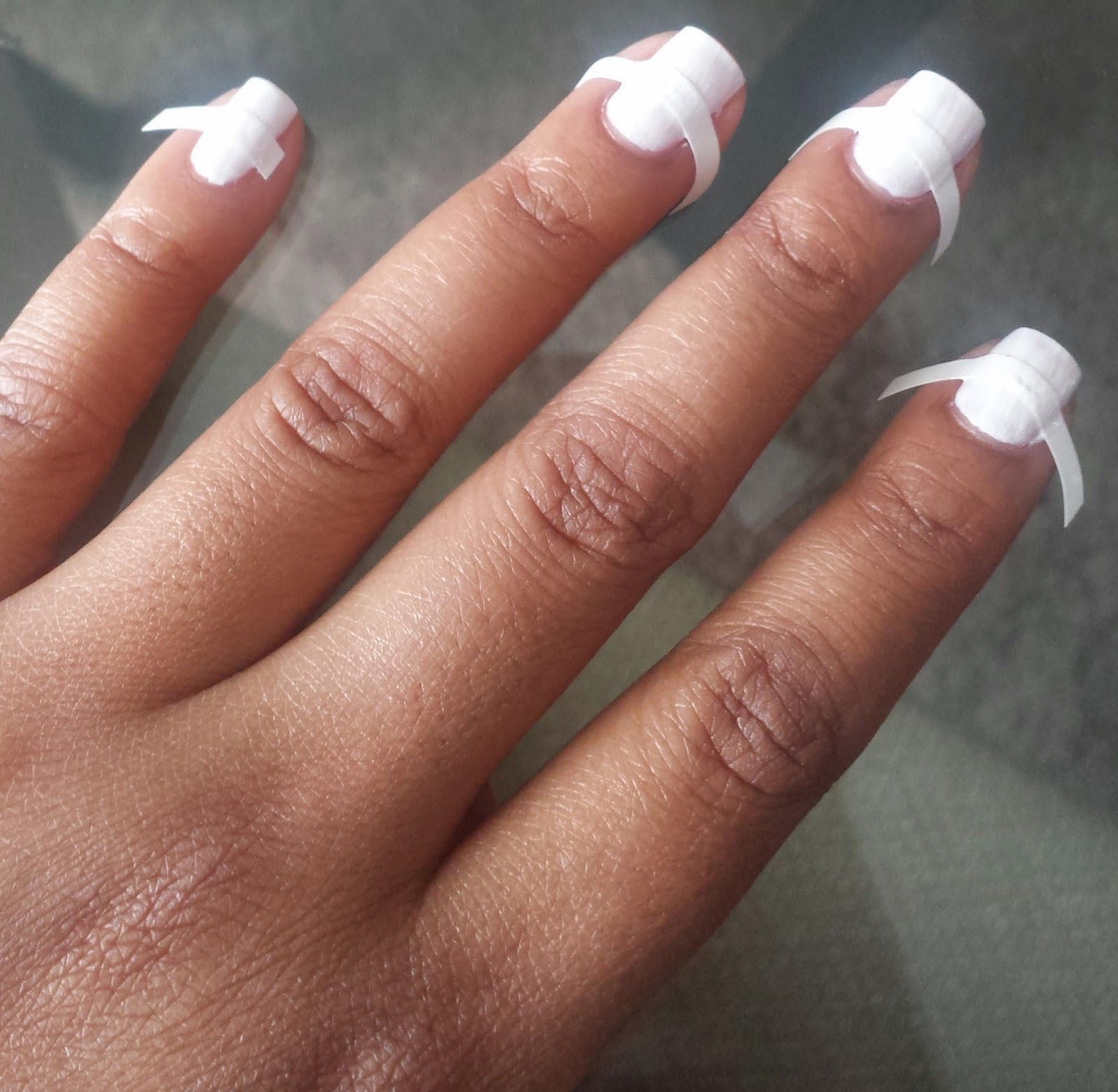 Nails: French and Moon w/ Bling | PinkLux