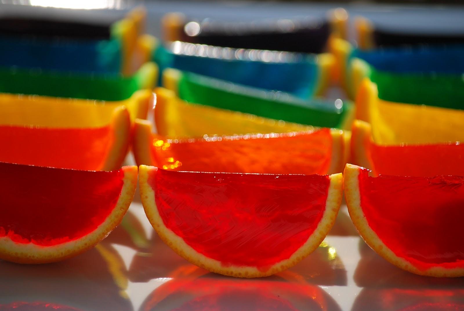 My story in recipes Rainbow Jello Slices