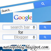 Google search bar for Blogger