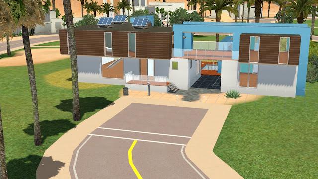 Maison de sims for Maison moderne sims 3