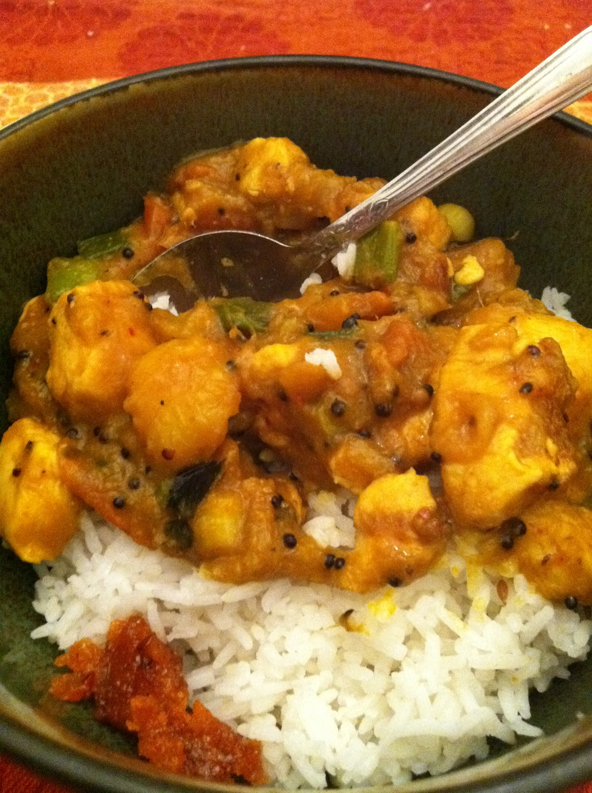The Curried Cook Mango And Tomato Curry