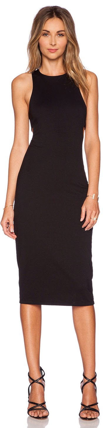 T BY ALEXANDER WANG LUX BANDEAU BACK DRESS