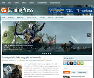 GamingPress-Blogger-Template