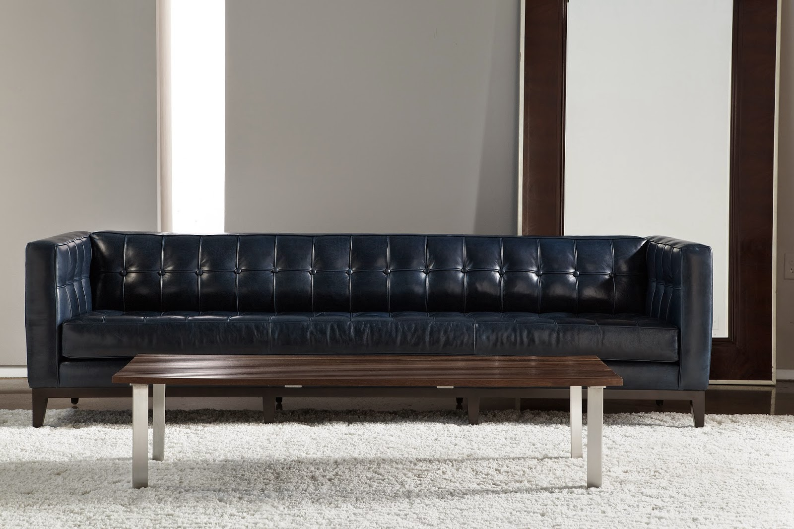 American Leather Luxe Sofa In Flagstaff Marina Leather.