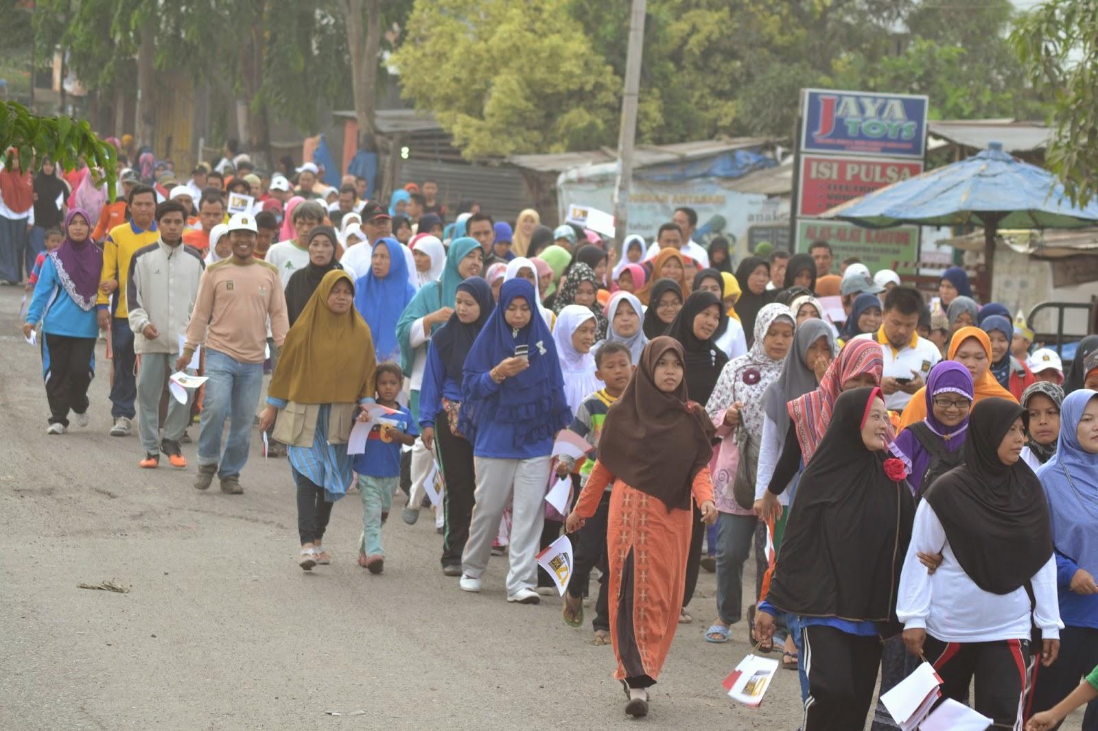 Ribuan Warga Medan Hadiri Jalan Sehat Milad PKS Ke-17