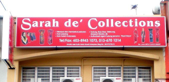 "STOK UPTODATE Hubungi ''Sarah de' Collections"" untuk tempahan"" klik utk ke FACEBOOK Siti Sarah"