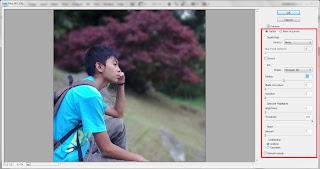 membuat efek lens blur pada foto
