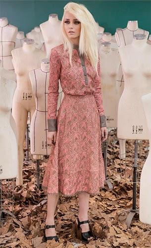 Patrícia Viera coleção inverno 2015 camisa e saia midi de couro