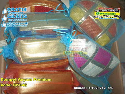 Dompet Anyam Premium murah