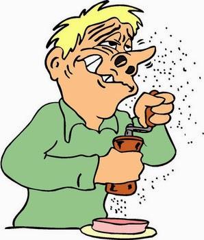 imagen de un hombre que se le mete pimienta por la nariz