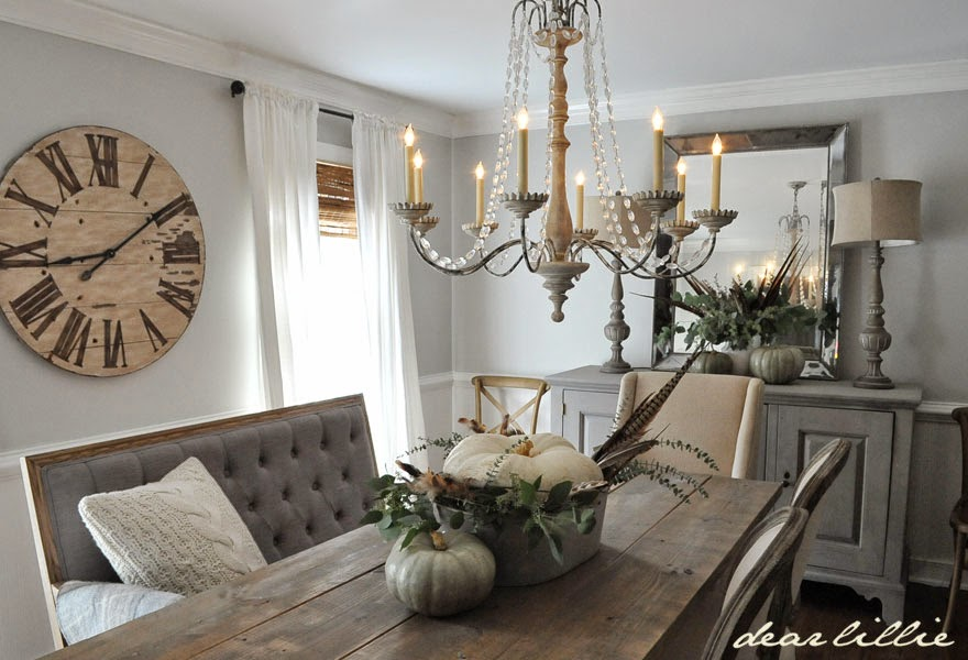 dear lillie some subtle fall touches in our dining room. Black Bedroom Furniture Sets. Home Design Ideas