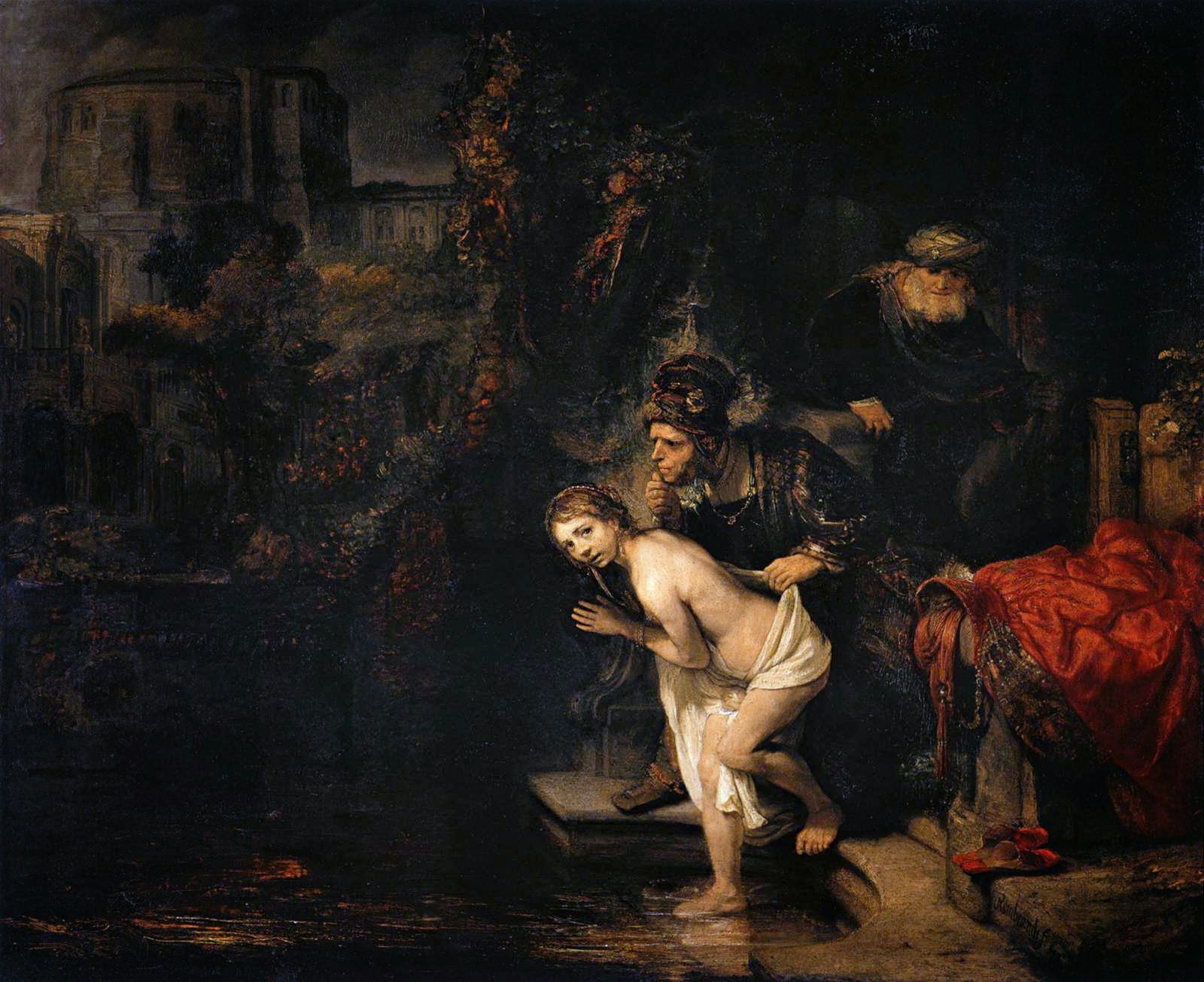 rembrandt to reynolds rembrandt susannah and the elders 1636 oil on mahogany panel 77 x 93 cm staatliche museen berlin