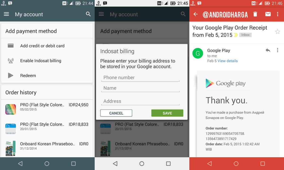 Cara Membeli Aplikasi & Game di Google Play Store Pakai Pulsa Indosat untuk Zenfone 6
