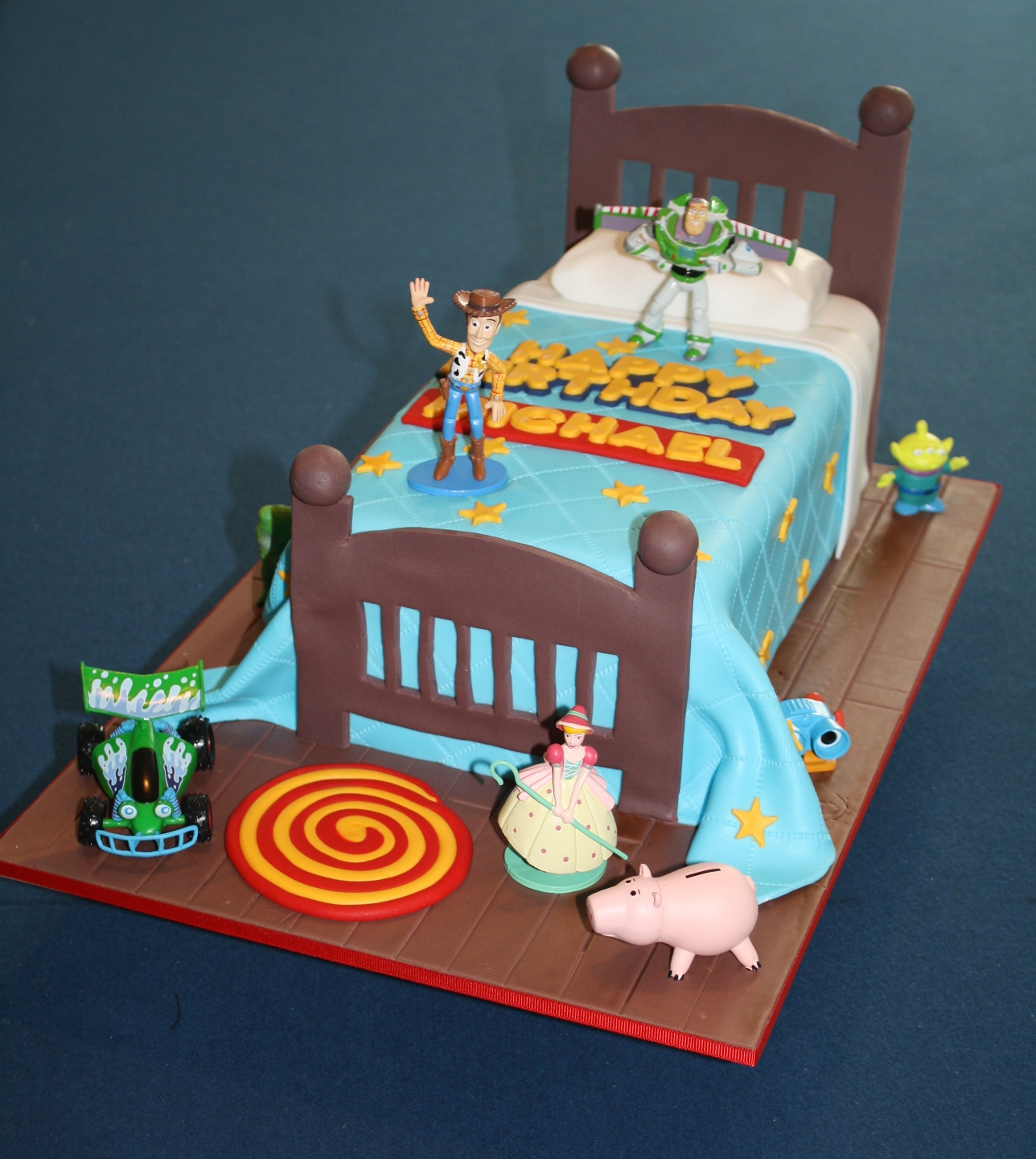 Sandys Cakes Michaels Toy Story Bed Cake For His 4th Birthday