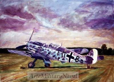 Pintura por encargo de piloto de la luftwaffe de Artemilitarynaval