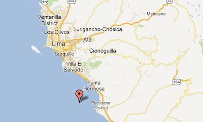 punto del epicentro temblor lima hoy 18 octubre 2012