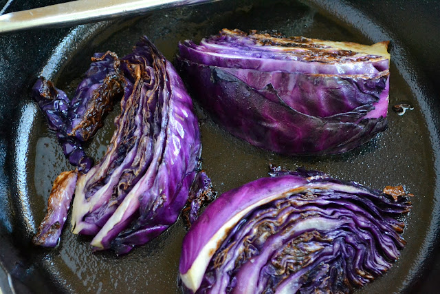 Minimal Monday: Pan Seared Red Cabbage Wedges
