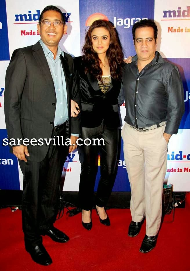 Preity Zinta at Mid Day Newspaper's Relaunch Party