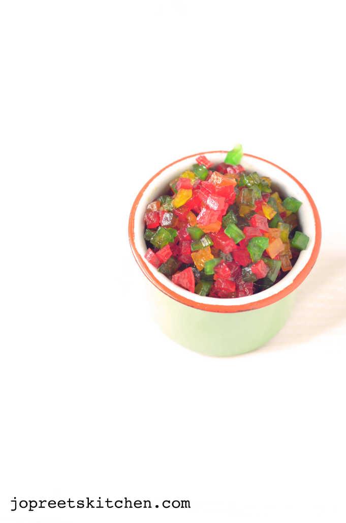 how to make tutti frutti from papaya jopreetskitchen. Black Bedroom Furniture Sets. Home Design Ideas