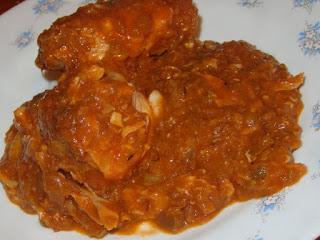 Carne en salsa para niños, (con lentejas)