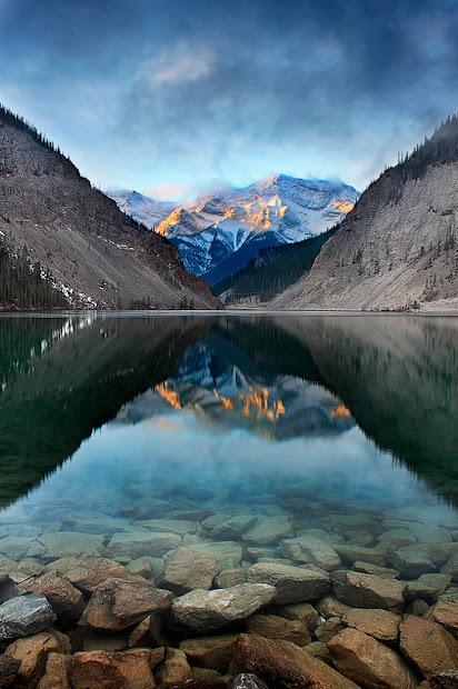 marvelous natural landscape reflection