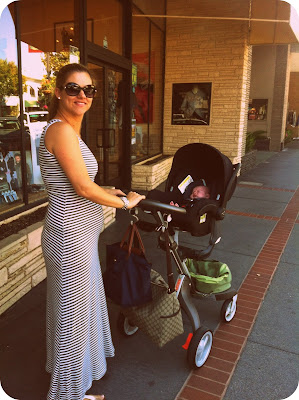 Mummy pushing Freddie around San Carlos