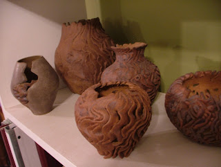 The Potter Stone's Carved Stoneware Vessels