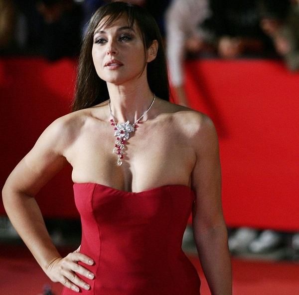 Bold Monica Bellucci Red Dress