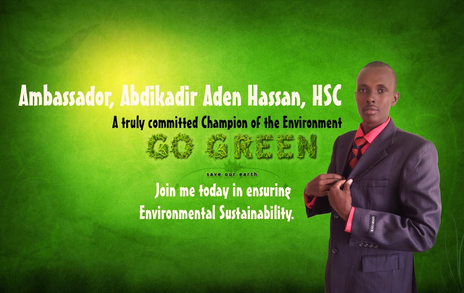 Join me in ensuring Environmental Sustainability
