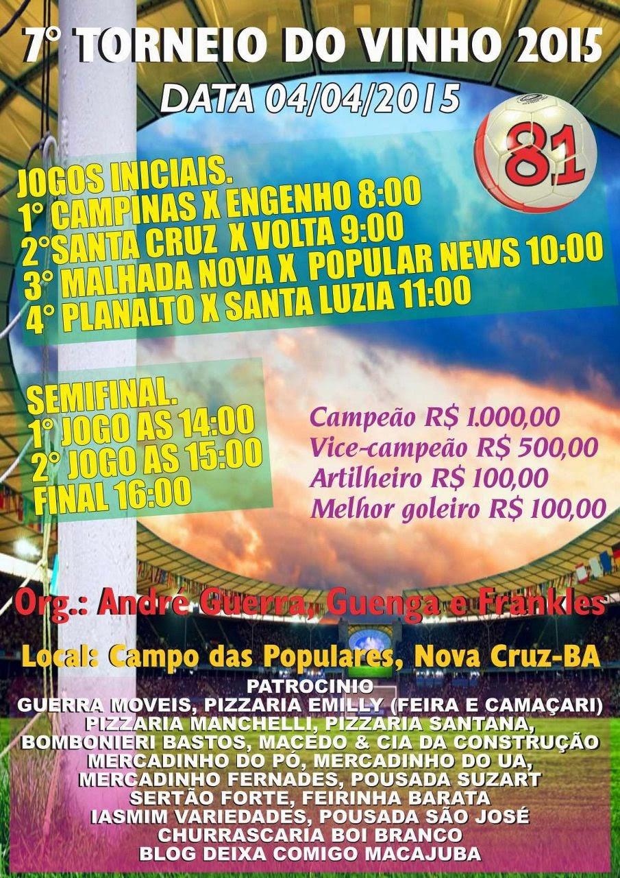 7º Torneio do Vinho EM Nova Cruz