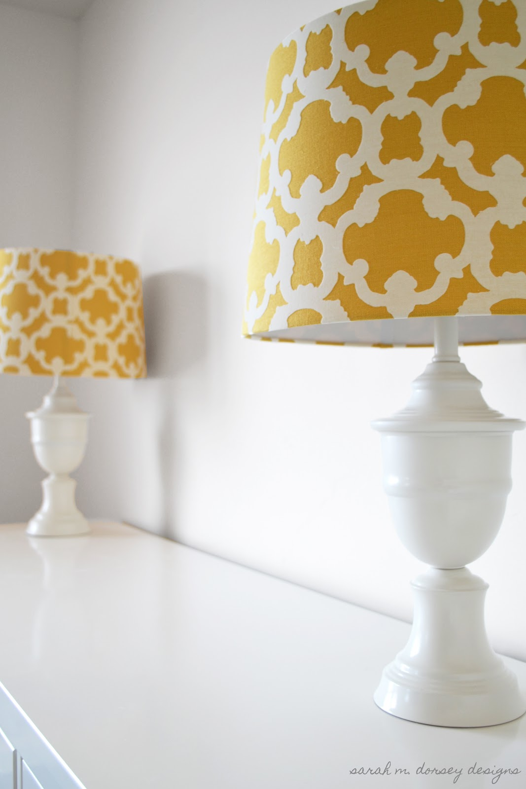 Sarah m dorsey designs lamp makeover for master bedroom for Diy bedroom lamp
