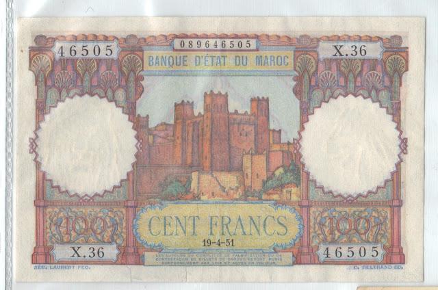 Marocco - 100 Francs - 1951 - P-45