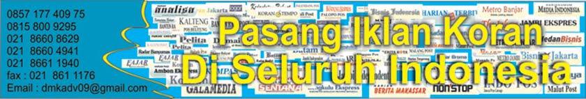 Pasang iklan Koran di Indonesia