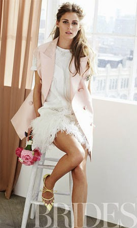 vestido de noiva Robert Rodriguez com Olivia Palermo para Brides Magazine