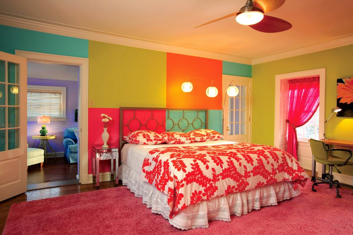 Orange slice of Bedrooms. | Master Bedroom Paint Ideas Photos