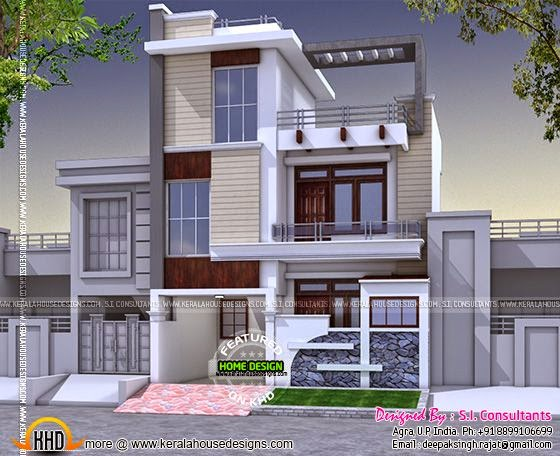 Modern house in India