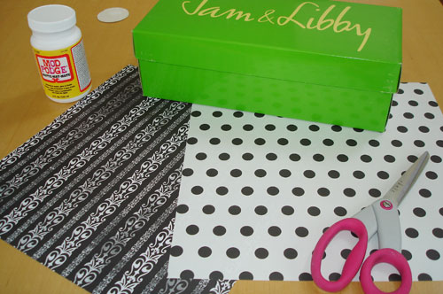 shoebox craft project
