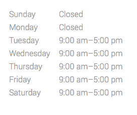 Fall-Winter-Spring Hours