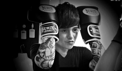 Greyson Chance Boxing Gloves in Bangkok Thailand 2012