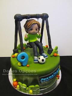 swing birthday cake