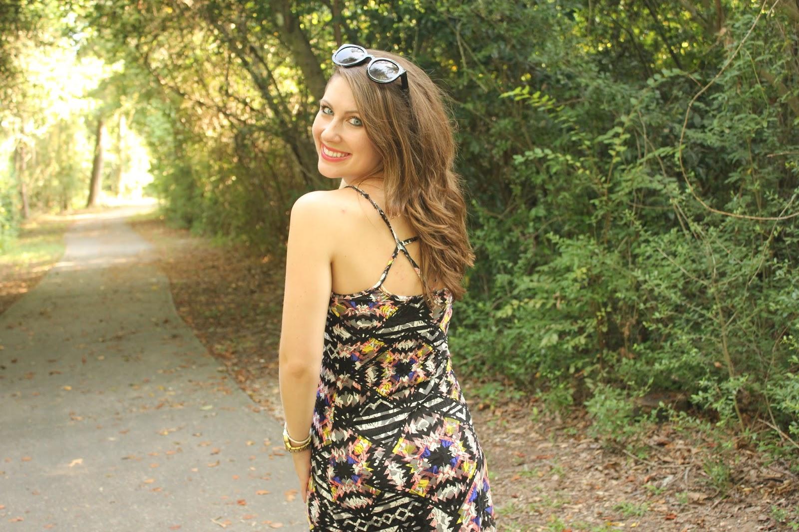 colorful aztec maxi dress | BNB styling