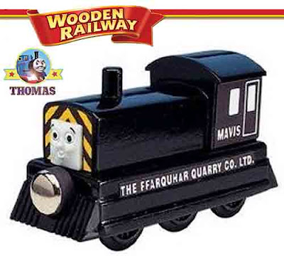 Learning toy wooden railway Thomas train and friends Mavis the tank engine from Sodor quarry mine