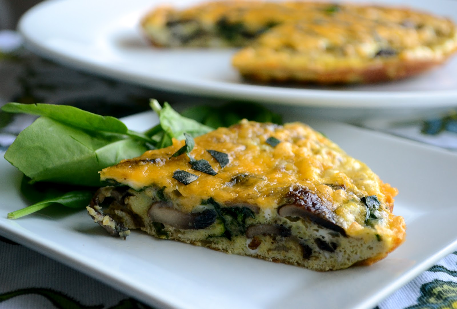 Spinach and Mushroom Frittata - Lawyer Loves Lunch